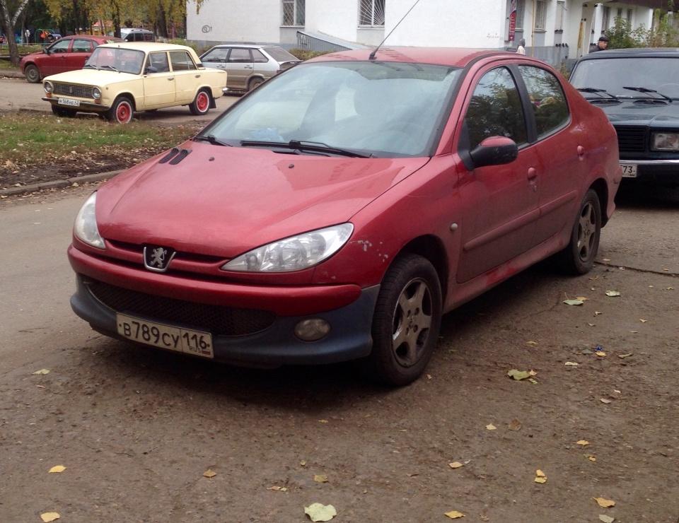 Подержанный Peugeot 206, среднее состояние, красный , 2008 года выпуска, цена 250 000 руб. в республике Татарстане