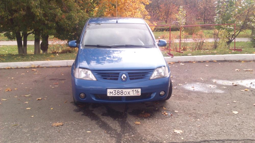 Подержанный Renault Logan, хорошее состояние, синий металлик, 2007 года выпуска, цена 250 000 руб. в республике Татарстане