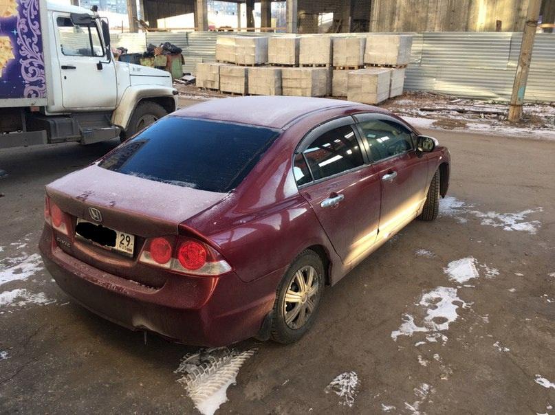 Подержанный Honda Civic, отличное состояние, бордовый , 2008 года выпуска, цена 410 000 руб. в Архангельске