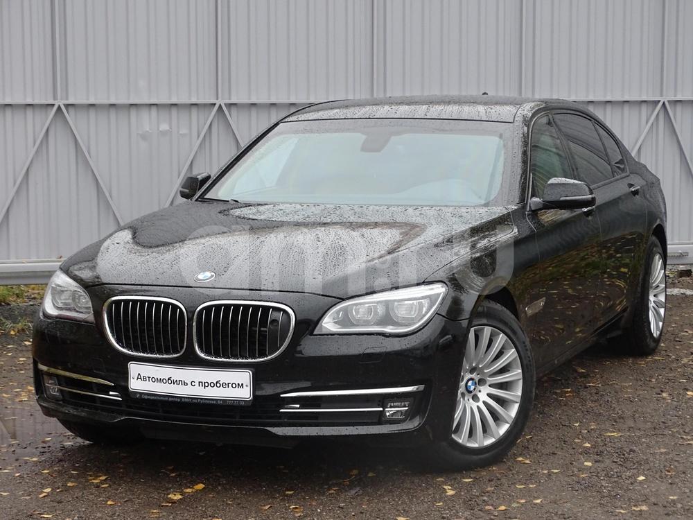 BMW 7 серия с пробегом, черный , отличное состояние, 2013 года выпуска, цена 11 900 000 руб. в автосалоне БалтАвтоТрейд-М (Москва, ш. Рублевское, д. 64, корп. 2)