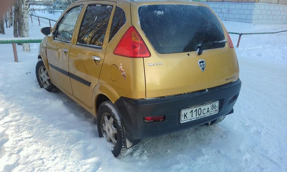 Подержанный Hafei Brio, среднее состояние, золотой , 2006 года выпуска, цена 105 000 руб. в ао. Ханты-Мансийском Автономном округе - Югре