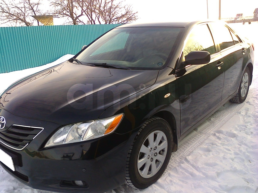 Подержанный Toyota Camry, хорошее состояние, черный , 2007 года выпуска, цена 630 000 руб. в Челябинской области