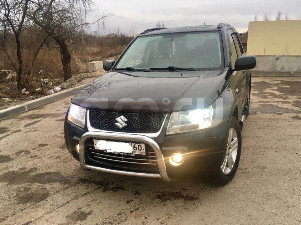 Подержанный Suzuki Grand Vitara, отличное состояние, черный , 2007 года выпуска, цена 620 000 руб. в Пскове