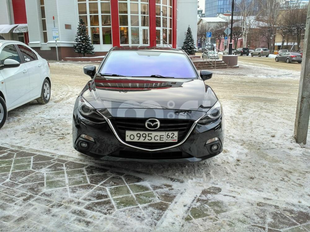 Подержанный Mazda 3, отличное состояние, черный металлик, 2014 года выпуска, цена 800 000 руб. в Рязани