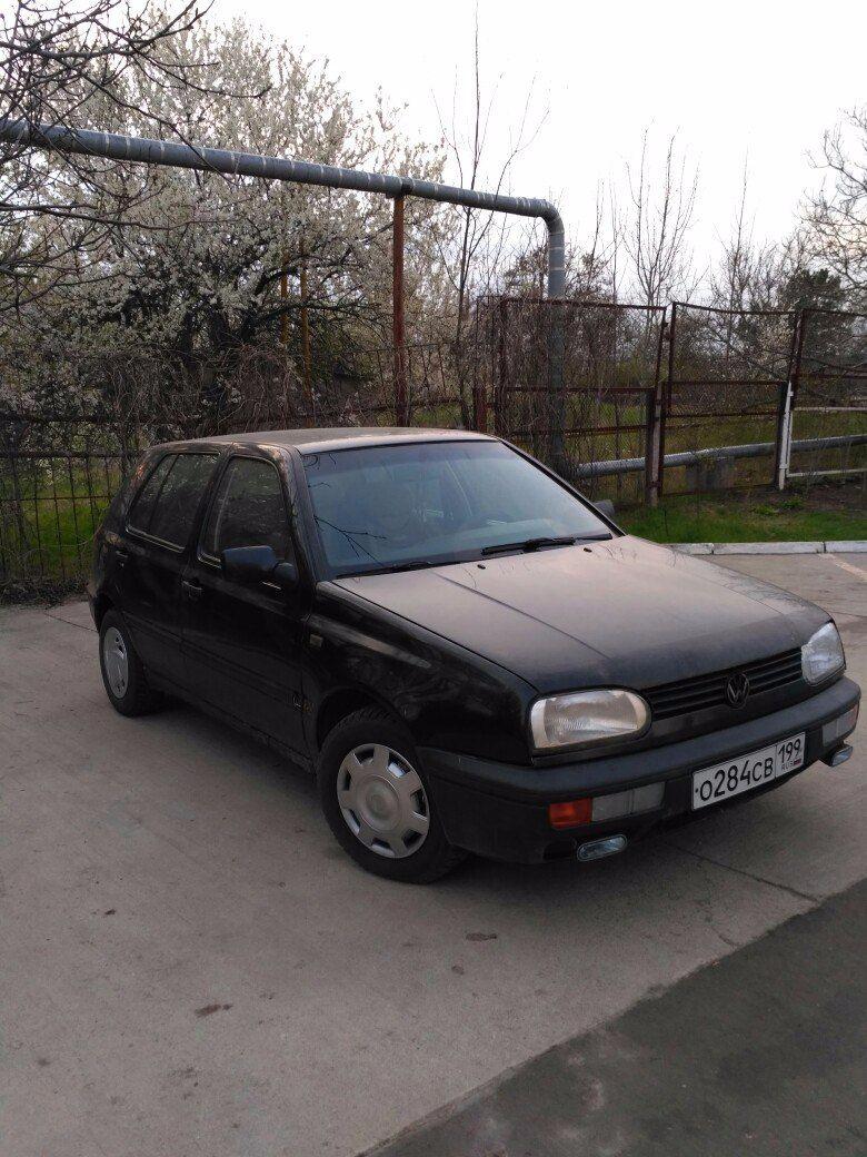 Подержанный Volkswagen Golf, отличное состояние, синий , 1994 года выпуска, цена 150 000 руб. в Крыму