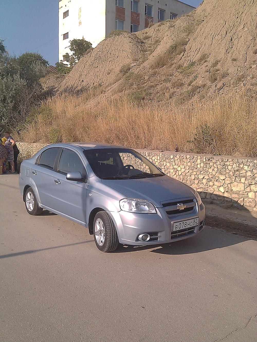Подержанный Chevrolet Aveo, хорошее состояние, синий , 2008 года выпуска, цена 275 000 руб. в Крыму