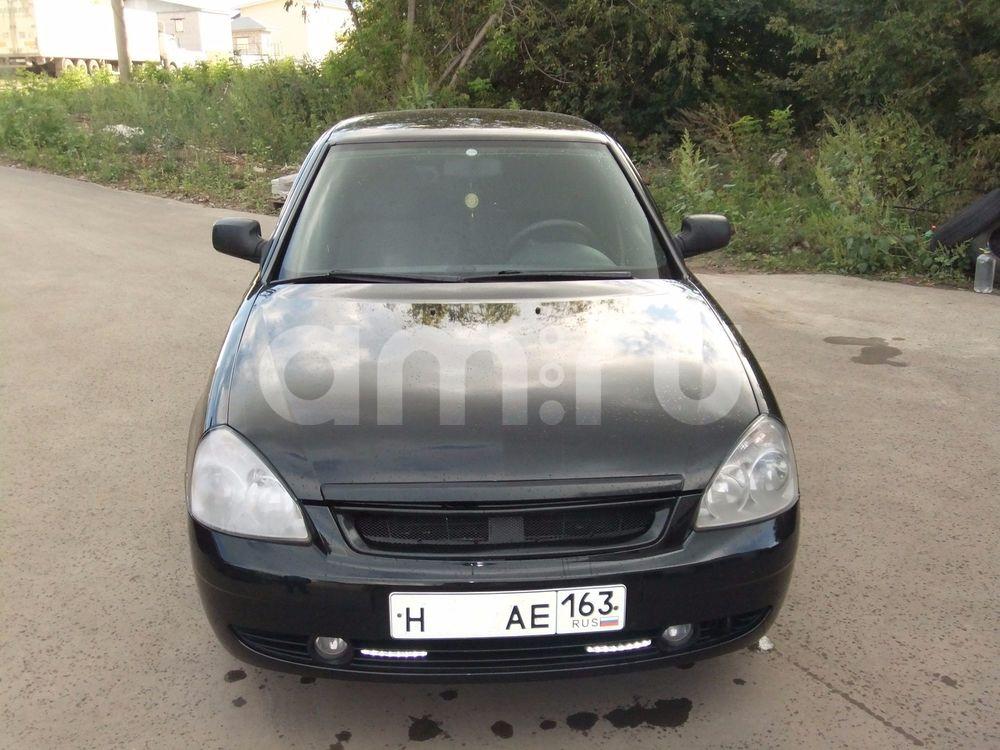 Подержанный ВАЗ (Lada) Priora, отличное состояние, черный , 2008 года выпуска, цена 177 000 руб. в Самаре