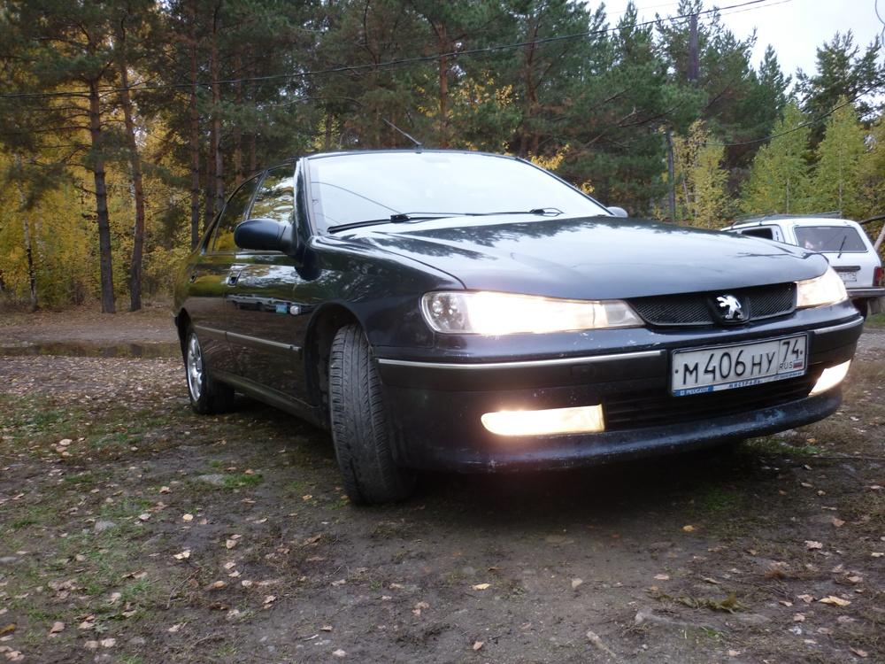 Подержанный Peugeot 406, хорошее состояние, синий металлик, 2002 года выпуска, цена 185 000 руб. в Челябинской области