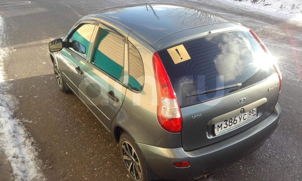 Подержанный ВАЗ (Lada) Kalina, хорошее состояние, серый , 2011 года выпуска, цена 215 000 руб. в ао. Ханты-Мансийском Автономном округе - Югре