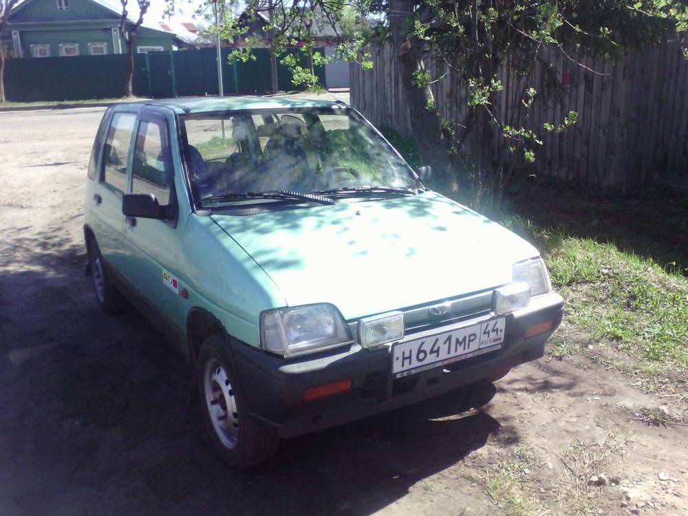Подержанный Daewoo Tico, хорошее состояние, зеленый , 1998 года выпуска, цена 65 000 руб. в Костромской области