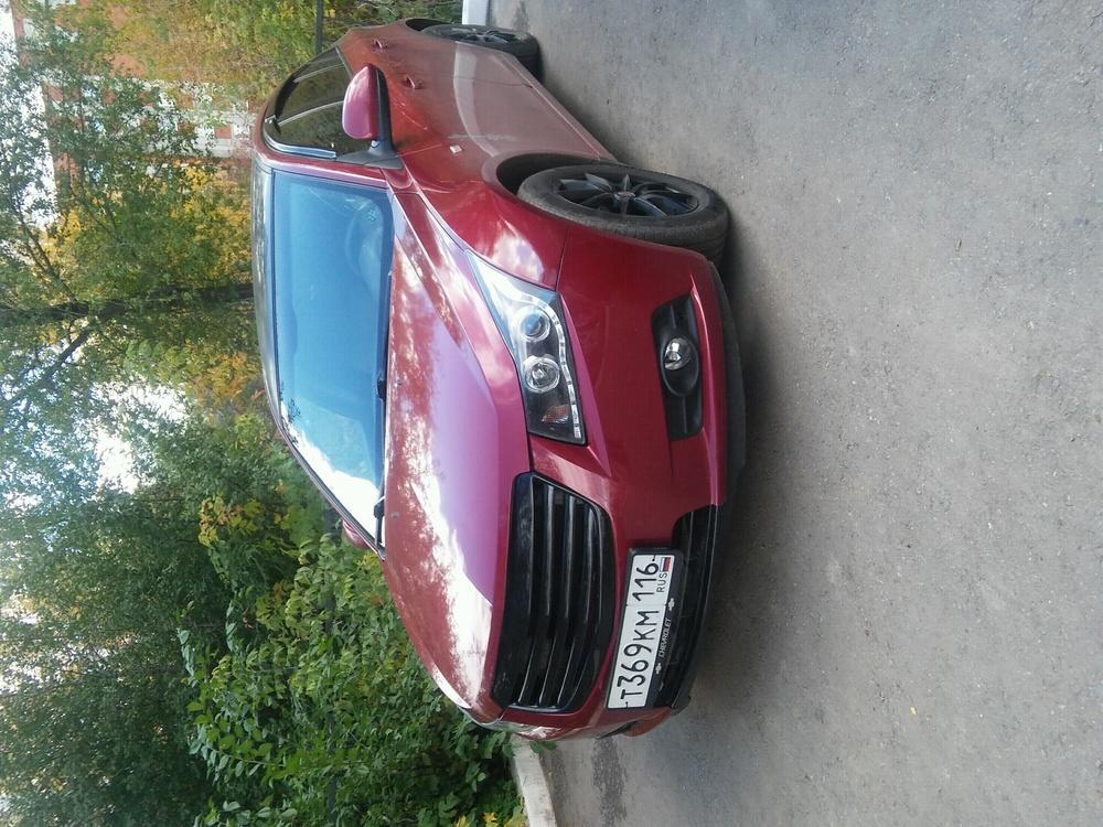 Подержанный Chevrolet Cruze, хорошее состояние, бордовый металлик, 2010 года выпуска, цена 365 000 руб. в республике Татарстане