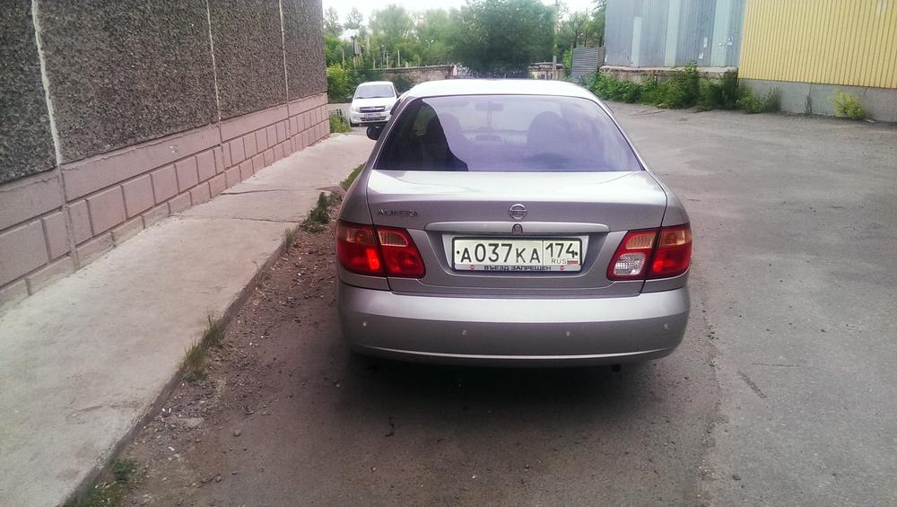 Подержанный Nissan Almera, отличное состояние, серебряный металлик, 2004 года выпуска, цена 238 000 руб. в Челябинской области