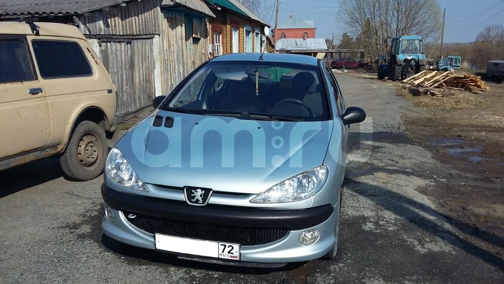 Подержанный Peugeot 206, хорошее состояние, голубой , 2008 года выпуска, цена 180 000 руб. в Тюмени