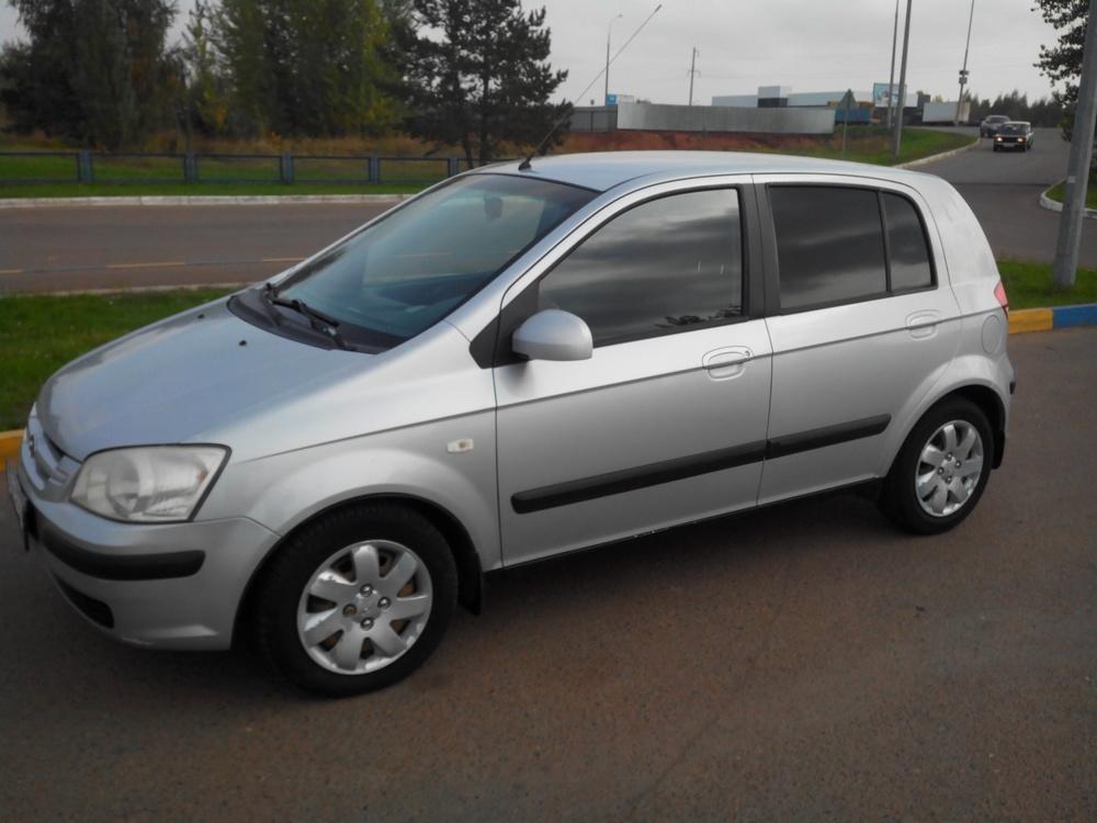 Подержанный Hyundai Getz, отличное состояние, серебряный металлик, 2003 года выпуска, цена 350 000 руб. в республике Татарстане