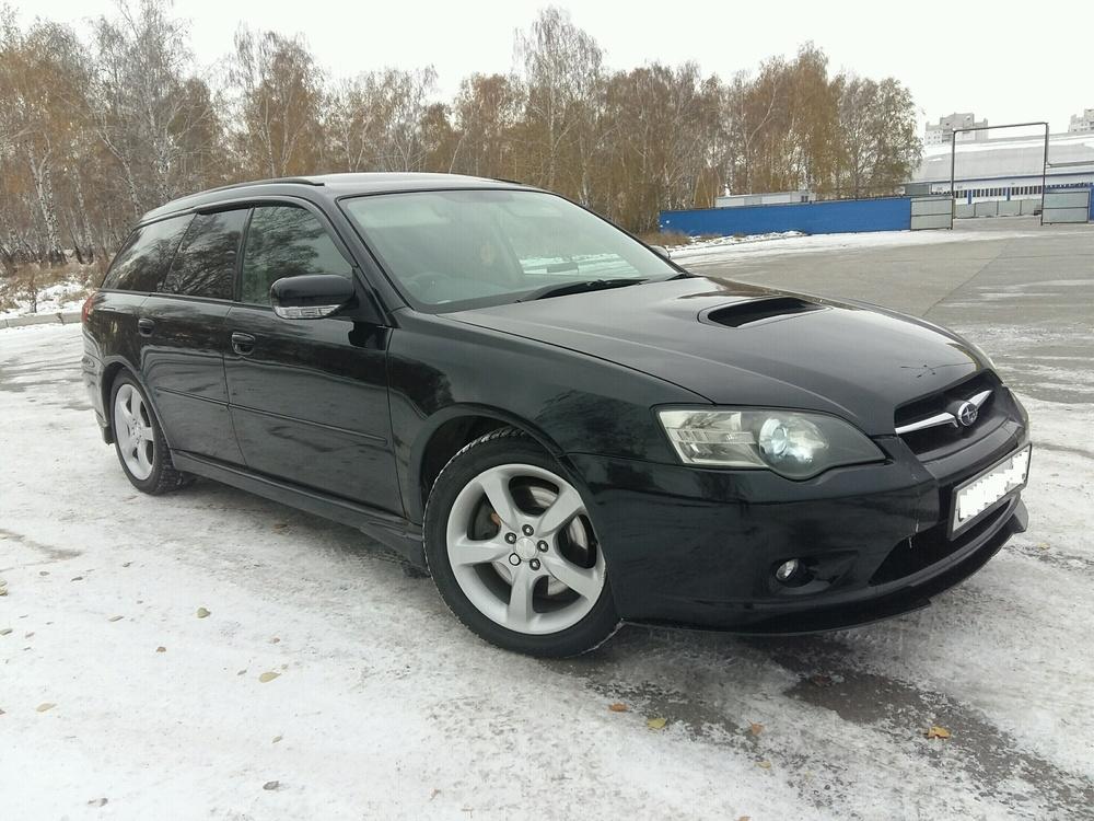 Подержанный Subaru Legacy, отличное состояние, черный перламутр, 2006 года выпуска, цена 370 000 руб. в Омской области