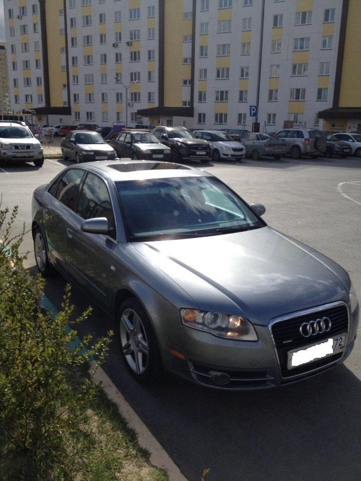 Подержанный Audi A4, хорошее состояние, серый металлик, 2006 года выпуска, цена 520 000 руб. в Тюмени