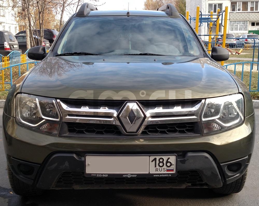 Подержанный Renault Duster, отличное состояние, зеленый металлик, 2015 года выпуска, цена 800 000 руб. в ао. Ханты-Мансийском Автономном округе - Югре