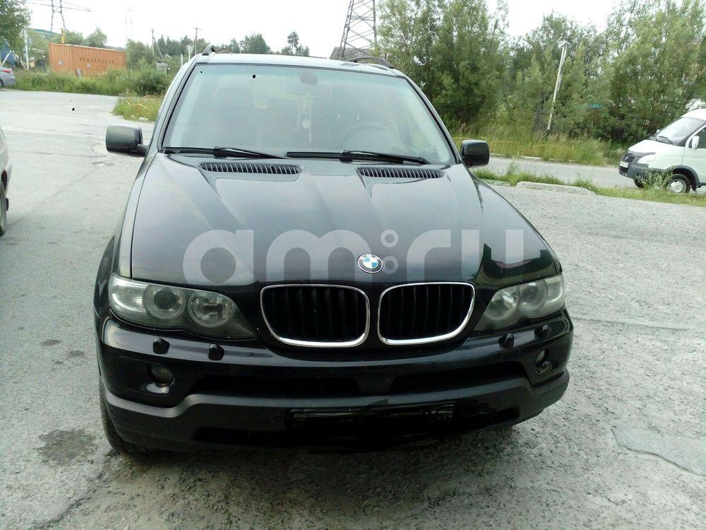 Подержанный BMW X5, хорошее состояние, черный металлик, 2004 года выпуска, цена 650 000 руб. в ао. Ханты-Мансийском Автономном округе - Югре