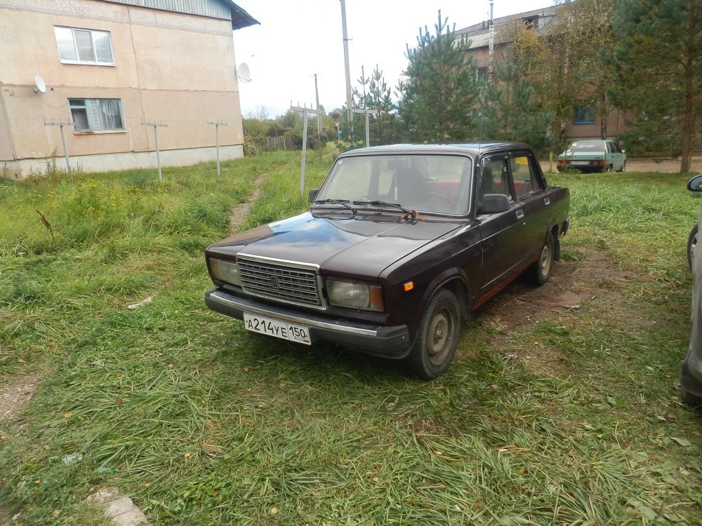 Подержанный ВАЗ (Lada) 2107, хорошее состояние, вишневый , 2008 года выпуска, цена 72 000 руб. в Смоленской области
