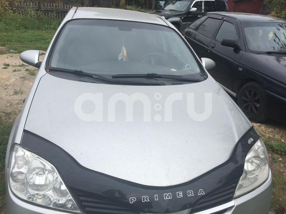 Подержанный Nissan Primera, хорошее состояние, серебряный металлик, 2003 года выпуска, цена 300 000 руб. в Пскове