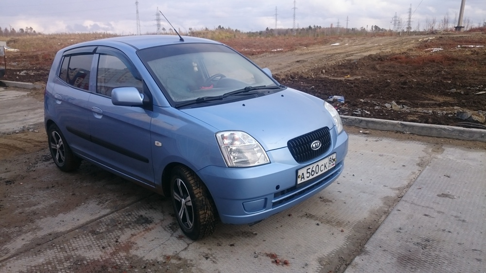 Подержанный Kia Picanto, хорошее состояние, голубой металлик, 2007 года выпуска, цена 200 000 руб. в ао. Ханты-Мансийском Автономном округе - Югре
