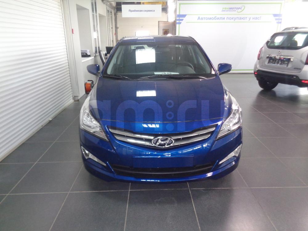 Hyundai Solaris с пробегом, синий перламутр, отличное состояние, 2016 года выпуска, цена 681 500 руб. в автосалоне УФА МОТОРС (Уфа, ул. Сарапульская, д. 35)