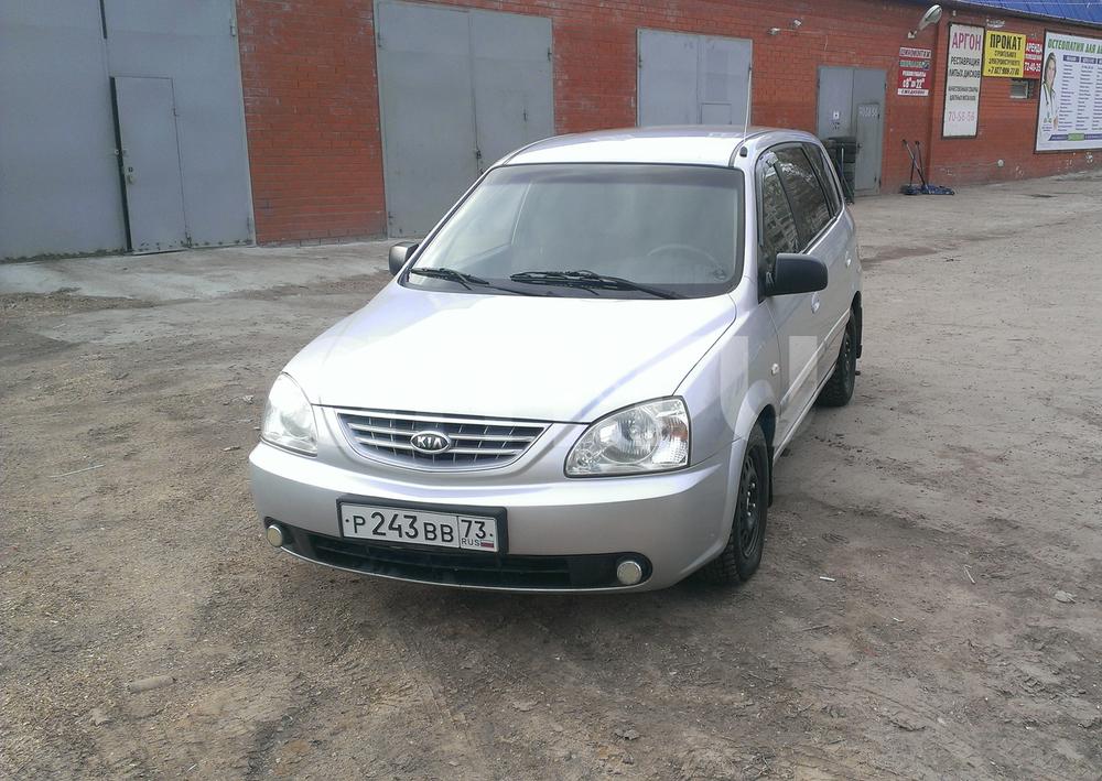 Подержанный Kia Carens, хорошее состояние, серебряный металлик, 2006 года выпуска, цена 265 000 руб. в Ульяновске