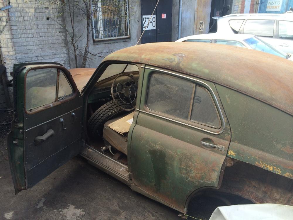 Подержанный ГАЗ М-20 Победа, плохое состояние, зеленый матовый, 1954 года выпуска, цена 100 000 руб. в Санкт-Петербурге
