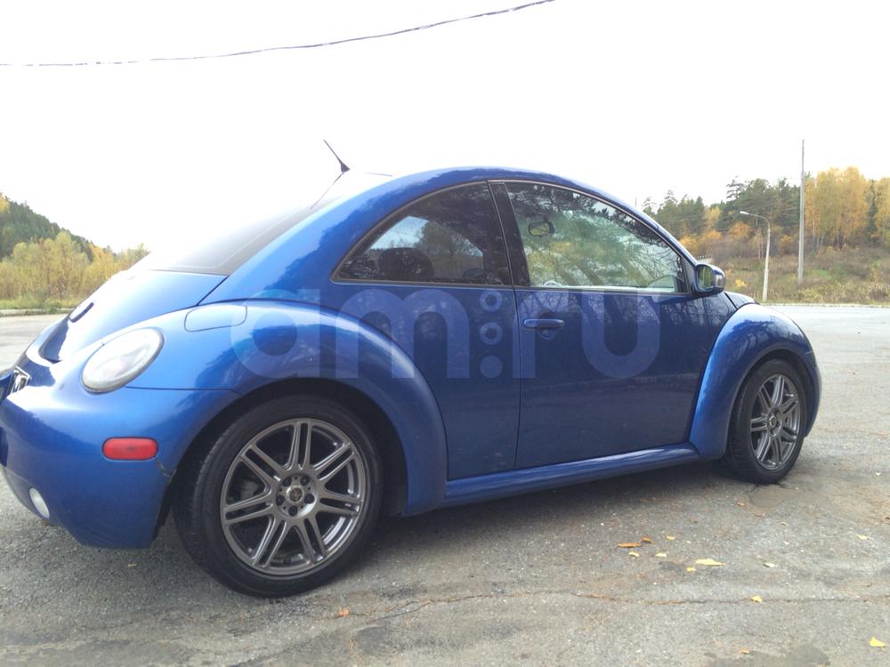 Подержанный Volkswagen Beetle, хорошее состояние, синий , 2003 года выпуска, цена 320 000 руб. в Челябинской области