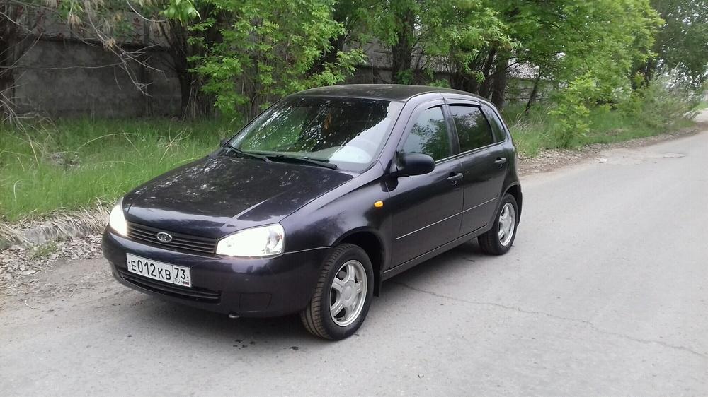 Подержанный ВАЗ (Lada) Kalina, хорошее состояние, синий перламутр, 2007 года выпуска, цена 139 000 руб. в Ульяновской области