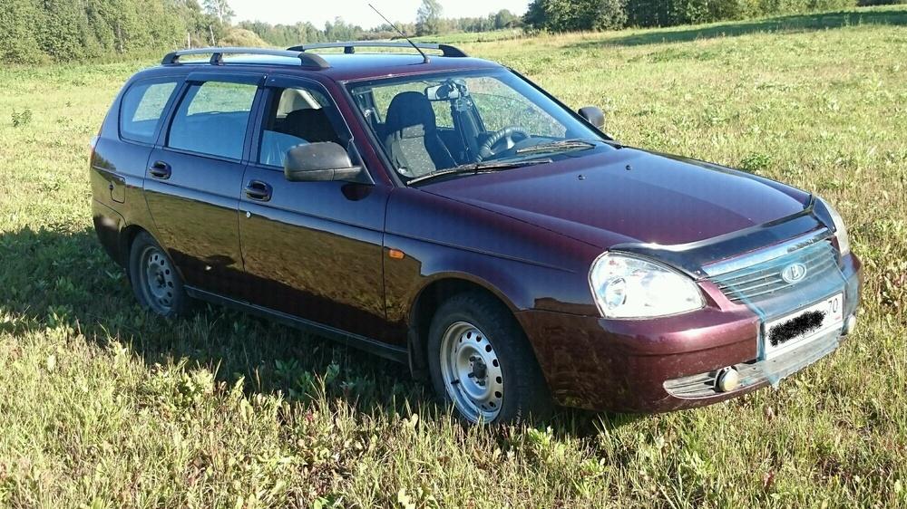 Подержанный ВАЗ (Lada) Priora, хорошее состояние, бордовый , 2012 года выпуска, цена 260 000 руб. в Томской области