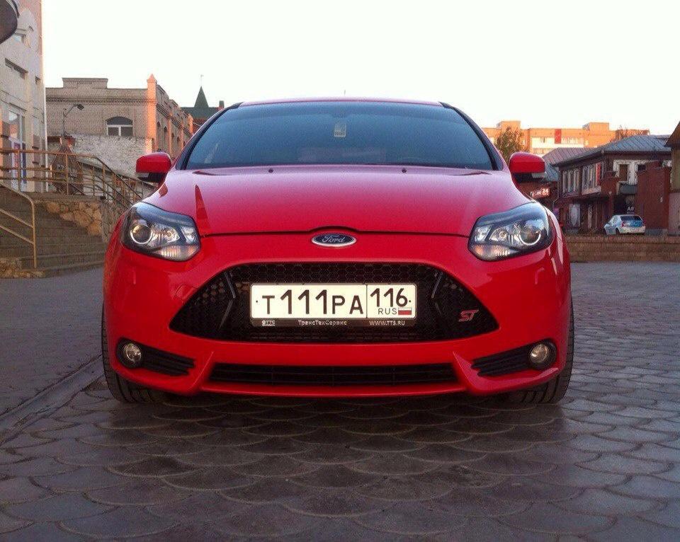 Подержанный Ford Focus, отличное состояние, красный , 2012 года выпуска, цена 960 000 руб. в республике Татарстане