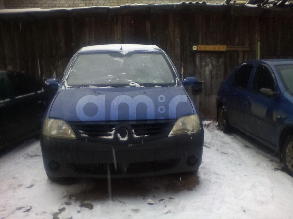 Подержанный Renault Logan, хорошее состояние, синий , 2007 года выпуска, цена 190 000 руб. в Костромской области