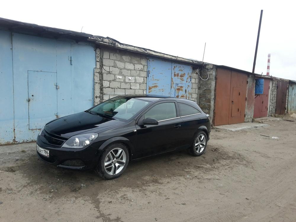 Подержанный Opel Astra, хорошее состояние, черный , 2007 года выпуска, цена 310 000 руб. в ао. Ханты-Мансийском Автономном округе - Югре