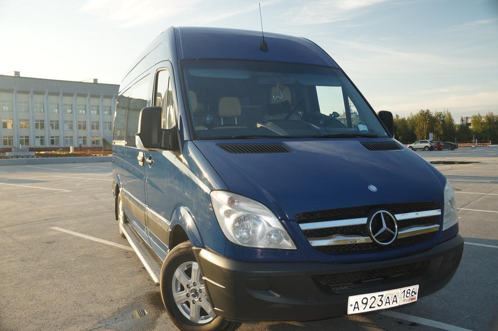 Подержанный Mercedes-Benz Sprinter, хорошее состояние, синий акрил, 2009 года выпуска, цена 1 250 000 руб. в ао. Ханты-Мансийском Автономном округе - Югре