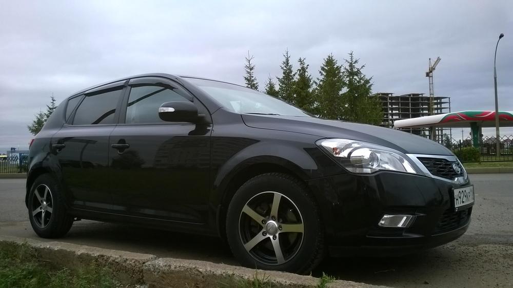 Подержанный Kia Cee'd, отличное состояние, черный металлик, 2010 года выпуска, цена 450 000 руб. в республике Татарстане