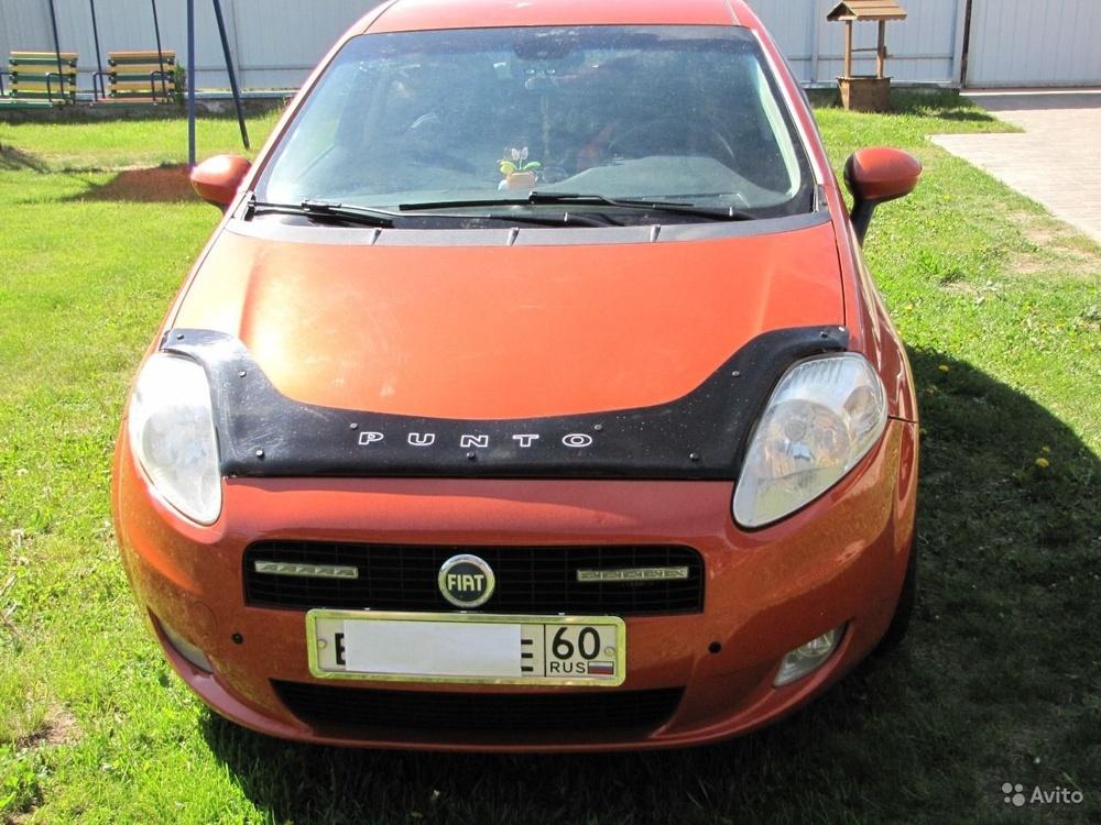 Подержанный Fiat Punto, отличное состояние, оранжевый , 2006 года выпуска, цена 240 000 руб. в Пскове