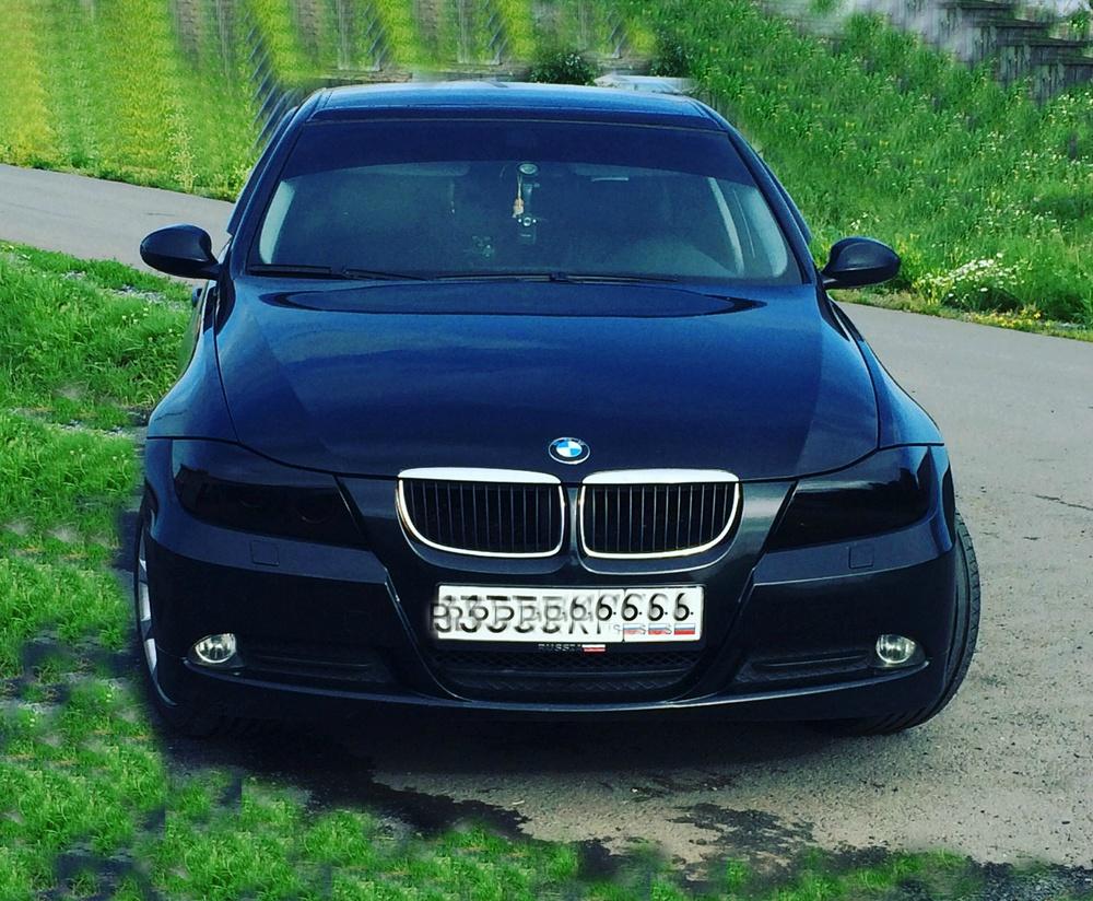 Подержанный BMW 3 серия, хорошее состояние, черный металлик, 2008 года выпуска, цена 700 000 руб. в Тюмени