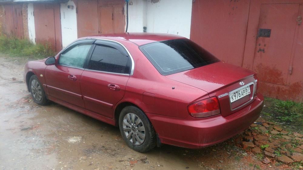 Подержанный Hyundai Sonata, хорошее состояние, вишневый металлик, 2007 года выпуска, цена 299 000 руб. в Смоленской области
