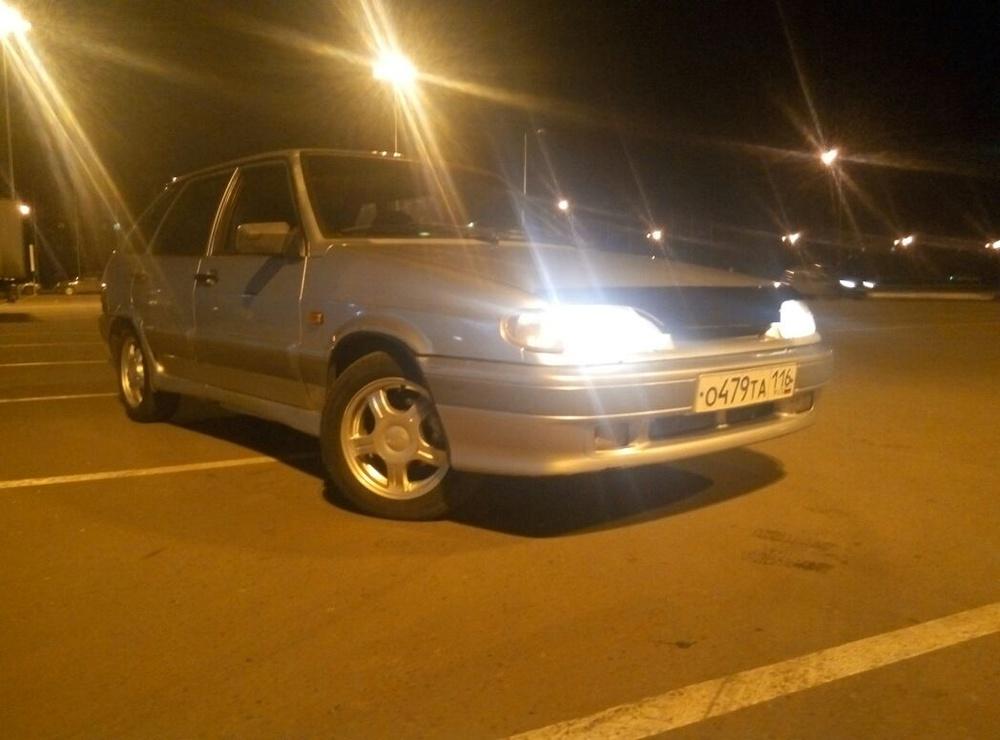 Подержанный ВАЗ (Lada) 2114, хорошее состояние, серебряный , 2004 года выпуска, цена 55 000 руб. в республике Татарстане