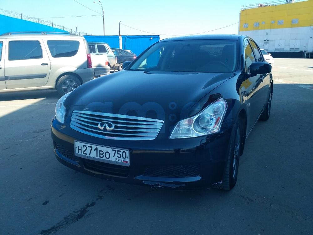 Подержанный Infiniti G-Series, отличное состояние, черный , 2007 года выпуска, цена 490 000 руб. в Нижнем Новгороде