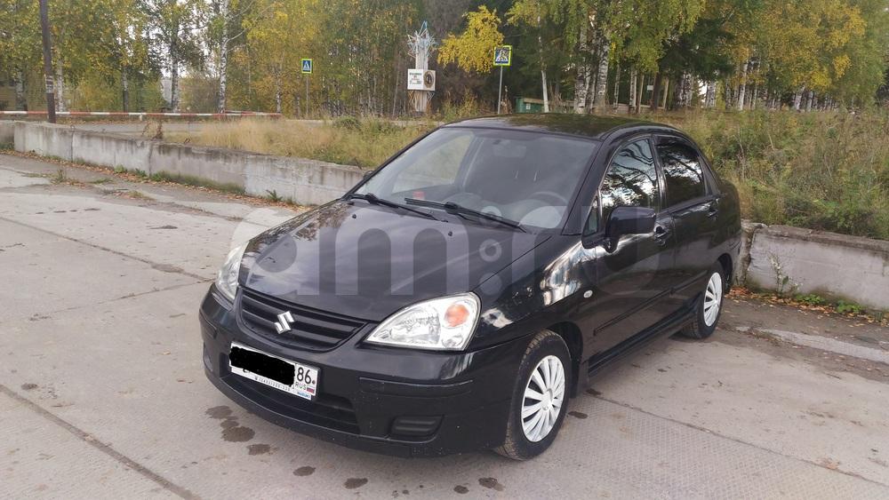 Подержанный Suzuki Liana, среднее состояние, черный , 2007 года выпуска, цена 260 000 руб. в ао. Ханты-Мансийском Автономном округе - Югре