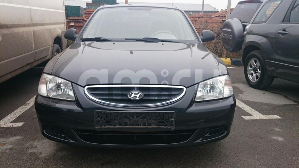 Подержанный Hyundai Accent, хорошее состояние, черный , 2009 года выпуска, цена 270 000 руб. в республике Татарстане