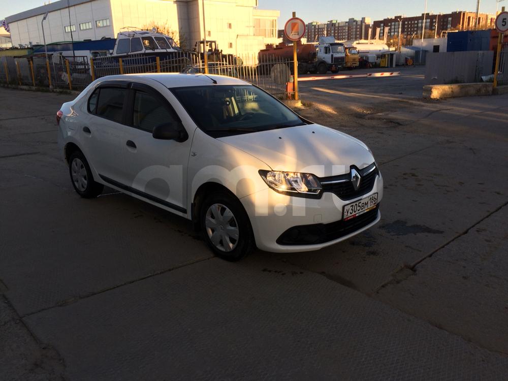 Подержанный Renault Logan, отличное состояние, белый , 2015 года выпуска, цена 520 000 руб. в ао. Ханты-Мансийском Автономном округе - Югре