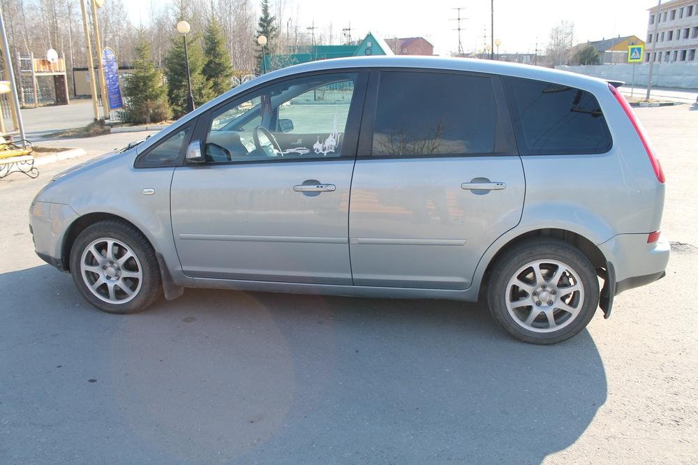 Подержанный Ford C-Max, отличное состояние, серый металлик, 2005 года выпуска, цена 300 000 руб. в ао. Ханты-Мансийском Автономном округе - Югре