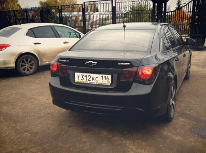 Подержанный Chevrolet Cruze, отличное состояние, черный металлик, 2013 года выпуска, цена 570 000 руб. в республике Татарстане