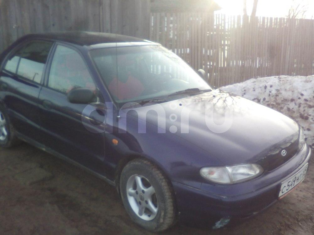 Подержанный Hyundai Accent, хорошее состояние, фиолетовый металлик, 1996 года выпуска, цена 100 000 руб. в Тверской области