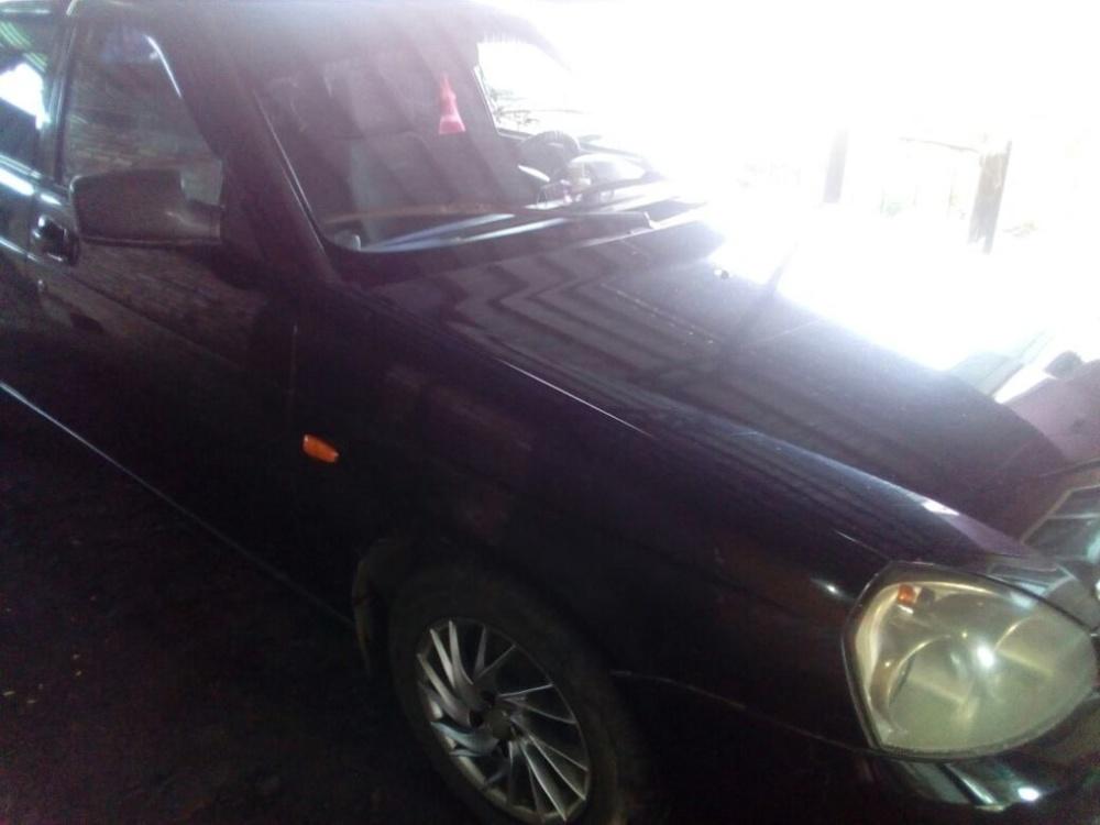 Подержанный ВАЗ (Lada) Priora, хорошее состояние, черный , 2009 года выпуска, цена 190 000 руб. в Кемеровской области