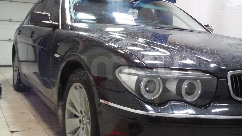 Подержанный BMW 7 серия, отличное состояние, черный металлик, 2004 года выпуска, цена 620 000 руб. в Челябинской области