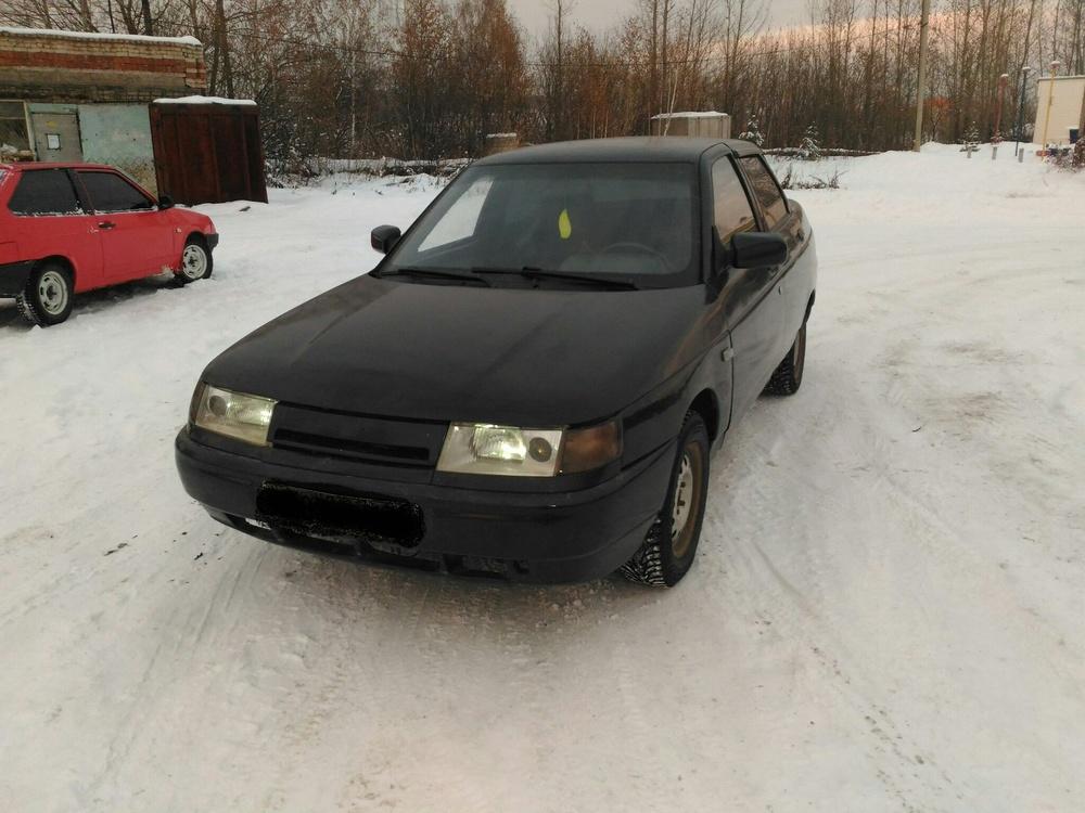 Подержанный ВАЗ (Lada) 2110, хорошее состояние, черный , 2007 года выпуска, цена 95 000 руб. в Челябинской области